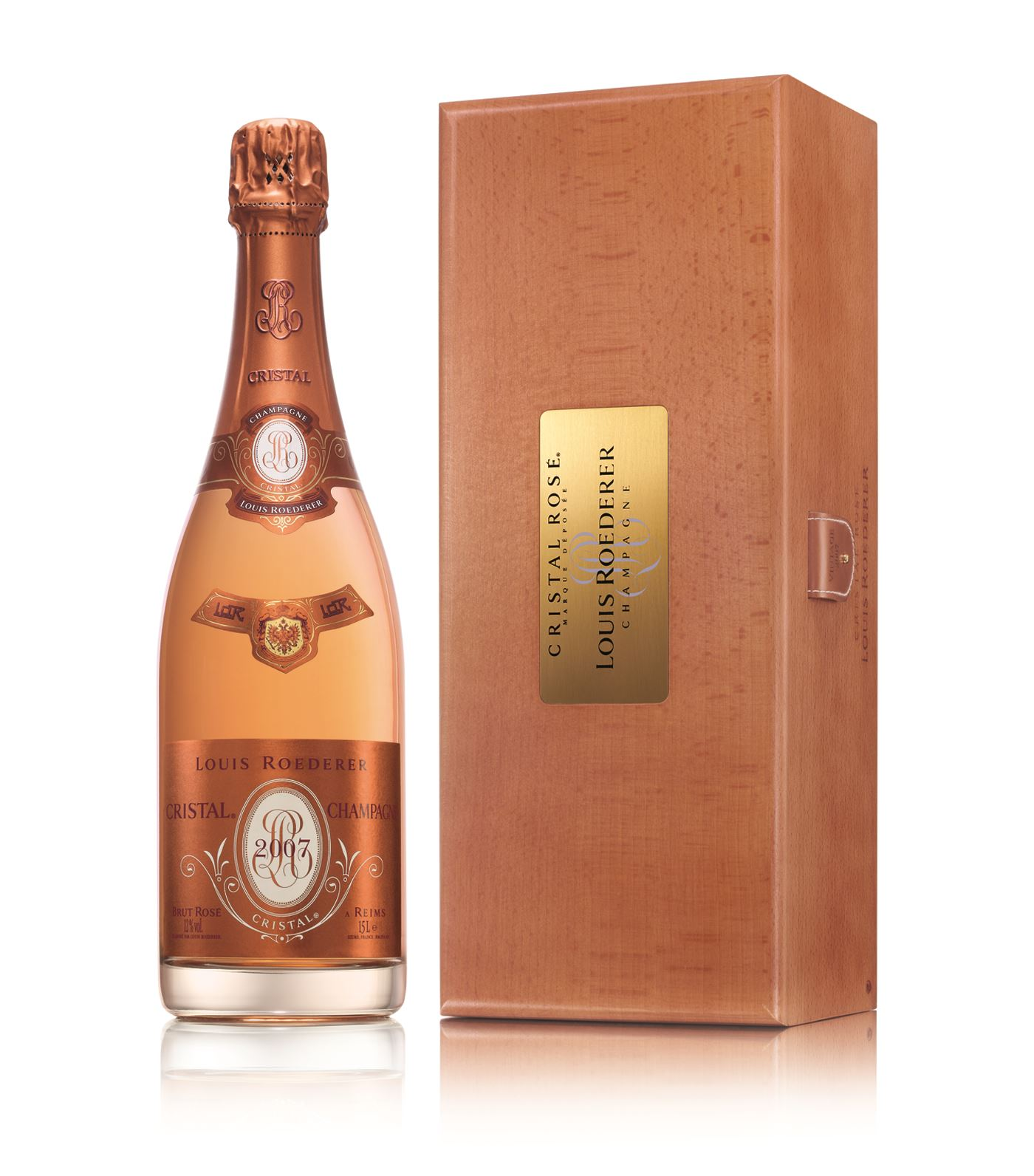 buy a magnum of louis roederer cristal rose 2002 champagne champagne king. Black Bedroom Furniture Sets. Home Design Ideas