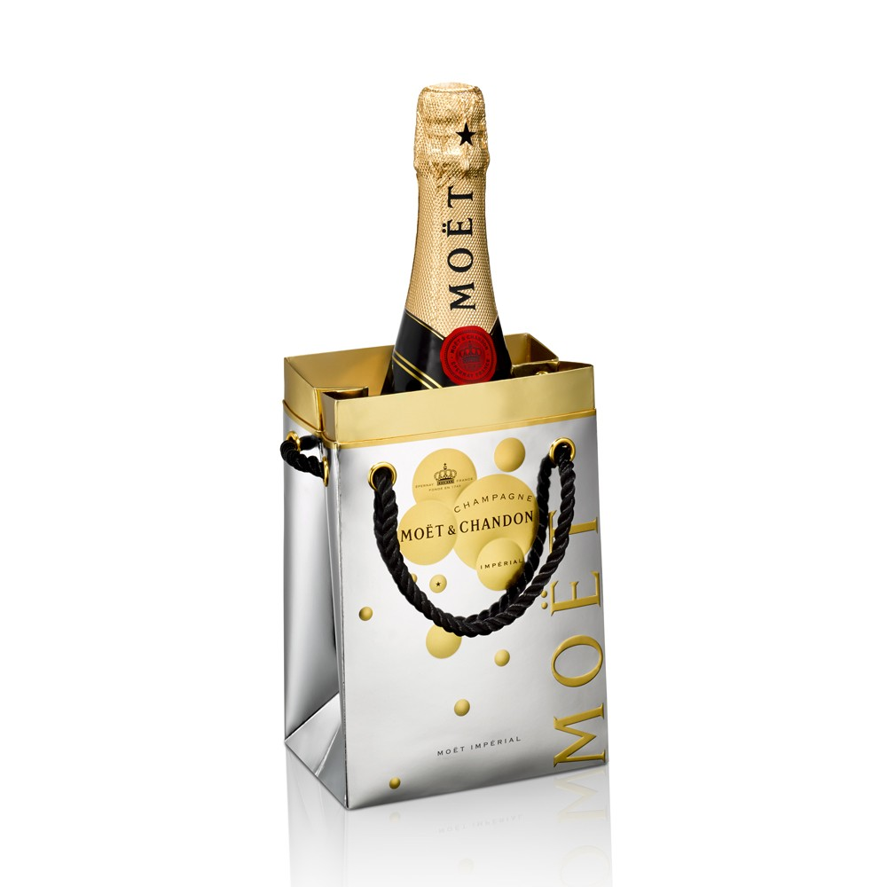 Moet & Chandon Brut Imperial Champagne So Bubbly Ice Bucket Gift Bag 75cl